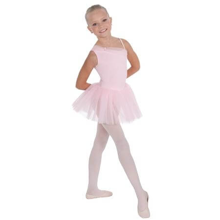 Body Wrappers Child Rhinestone Hearts Asymmetrical Tutu Leotard