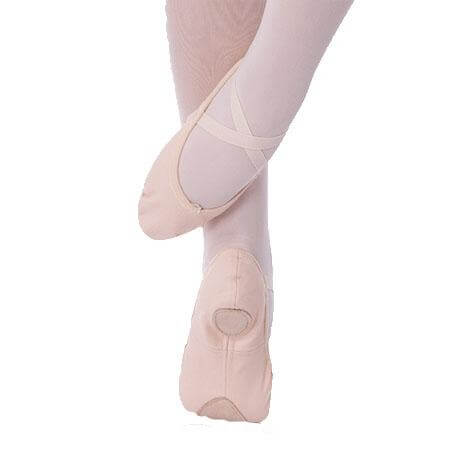 body wrappers maria total stretch low vamp canvas ballet slipper