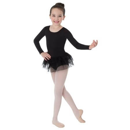 Body Wrappers Child Long Sleeve Leotard