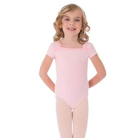 Body Wrappers Child Capsleeve Leotard with Crossback