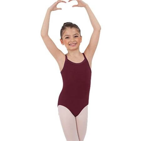 Body Wrappers Child Camisole Leotard with Crossback