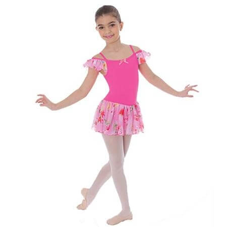 Body Wrappers Child Bling Floral Double Strap Camisole Leotard