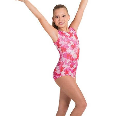 Body Wrappers Girls Bike-A-Thon Gymwear Tank Leotard