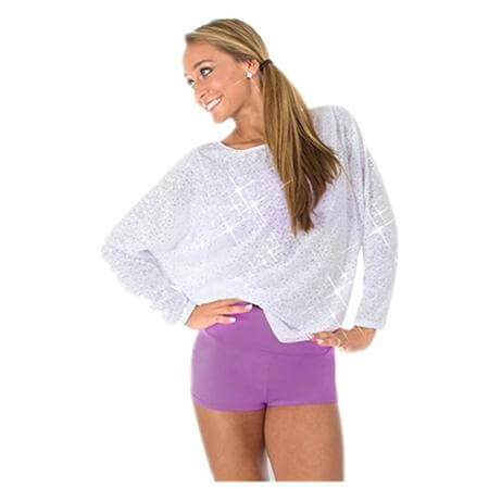Body Wrappers Long Dolman Sleeve Pullover Sequins