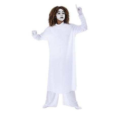 Body Wrappers White Adult Long Sleeve Tunic (top only)
