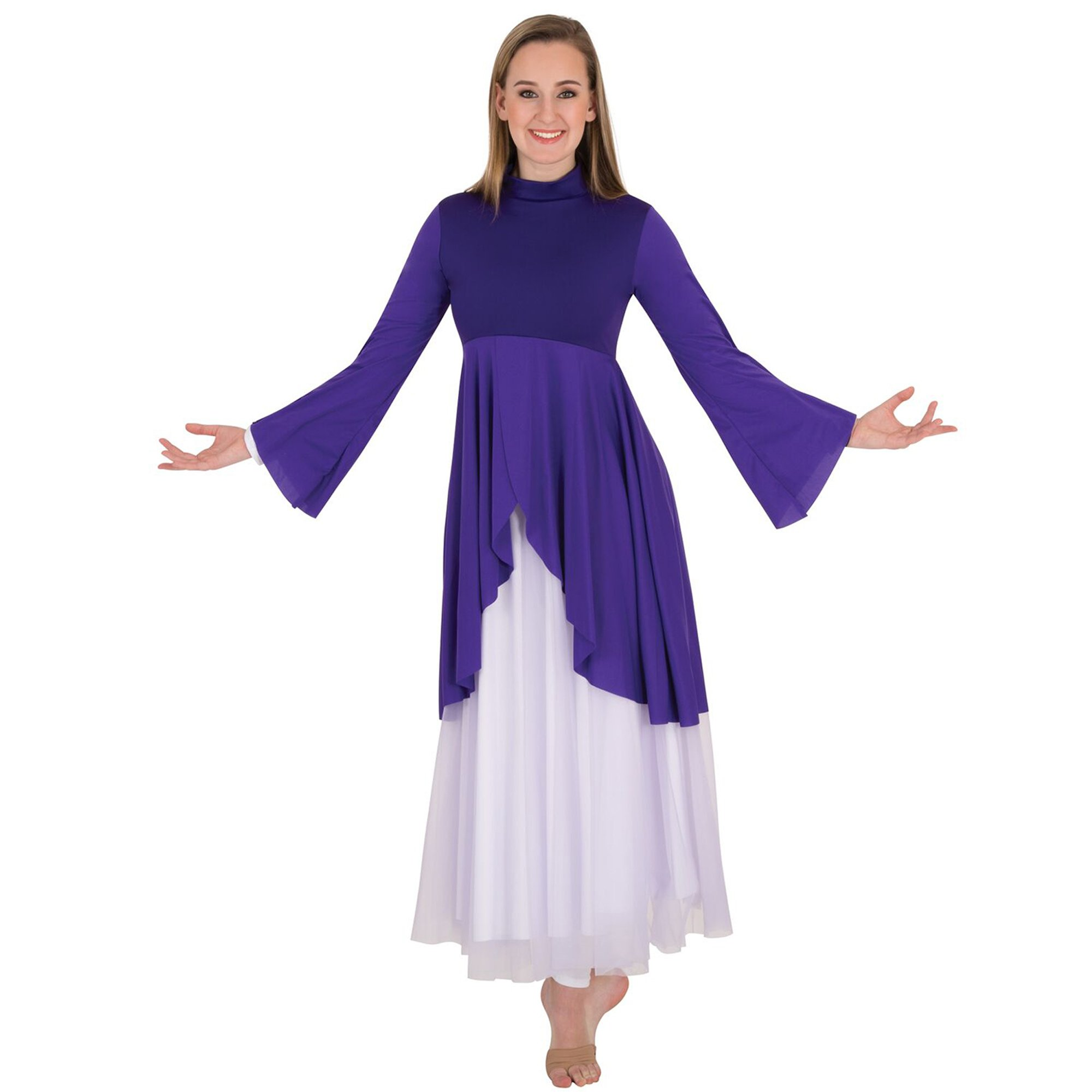 Body Wrappers Mock Neck Tunic