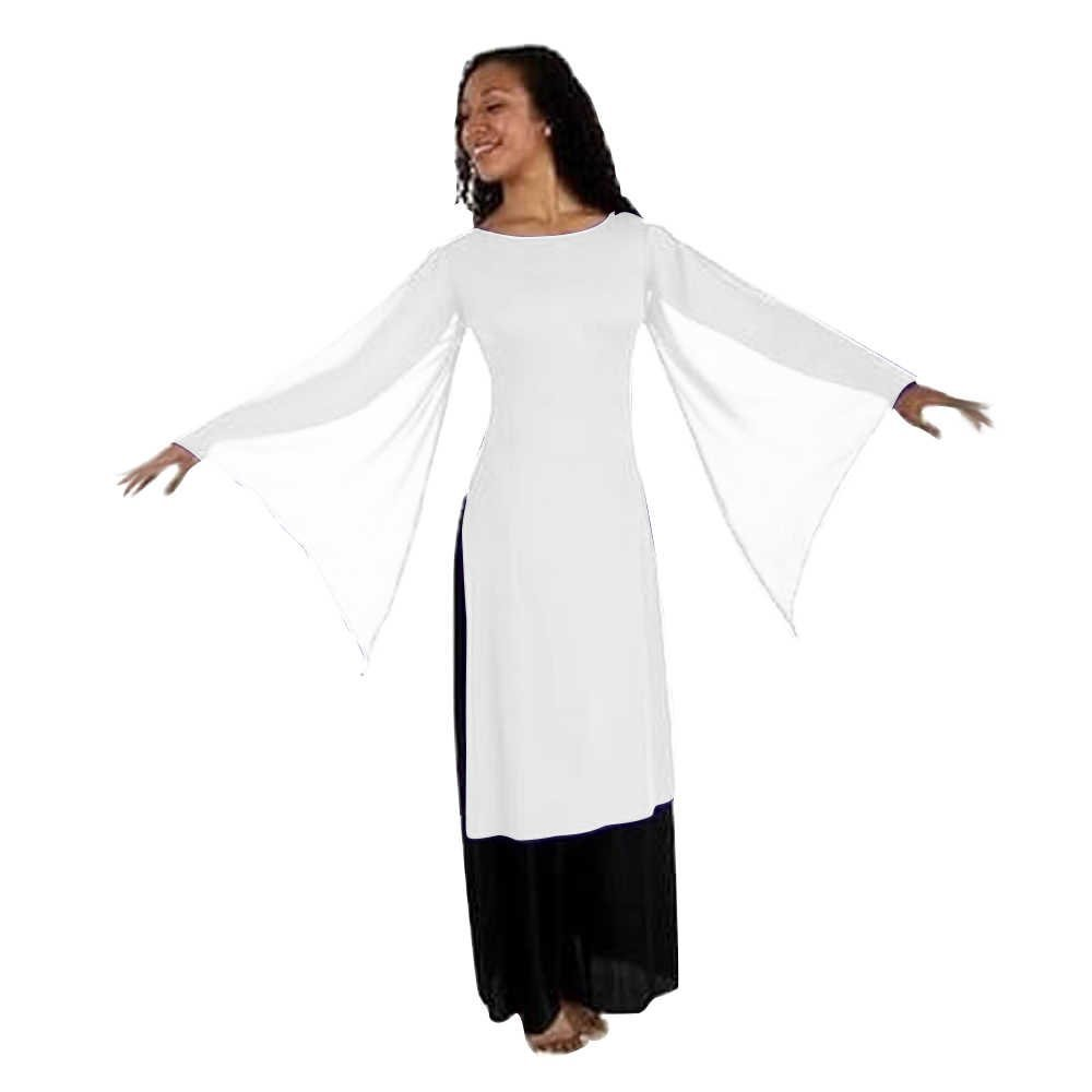 Body Wrappers Liturgical Dance Mid-calf Length Tunic Pullover