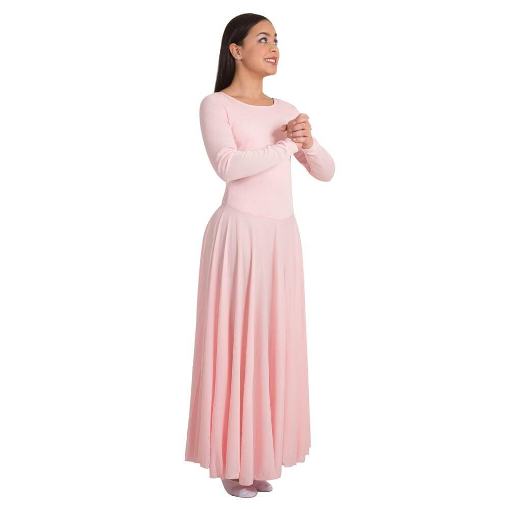 0182a60f84 Body Wrappers Praise Full Length Long Sleeve Dance Dress [BWP588 ...