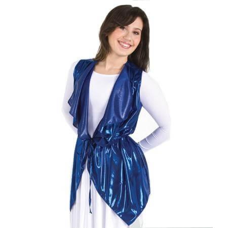 Metallic Drapey Vest