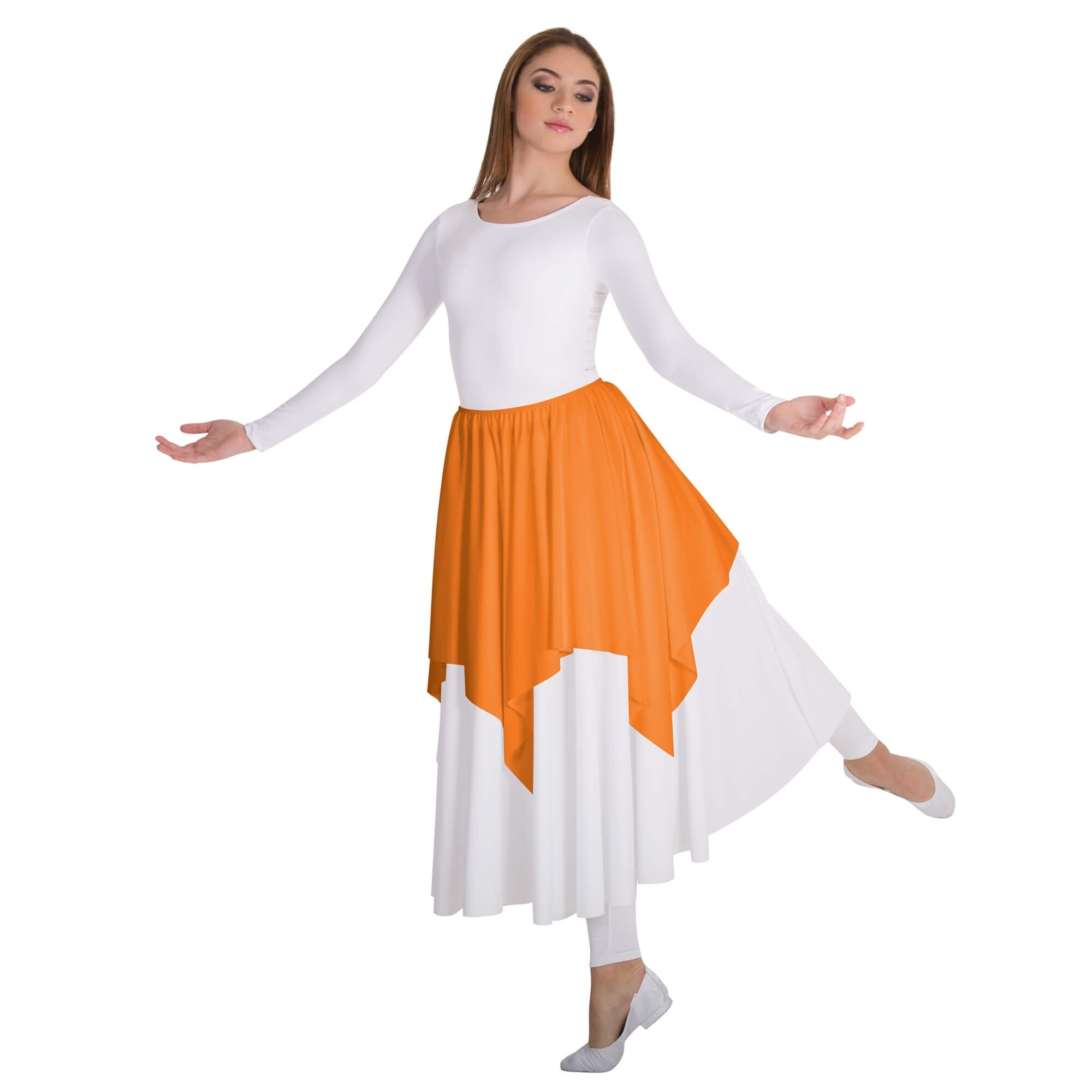 Body Wrappers Liturgical Dance Handkerchief Hem Skirt/Shoulder Drape