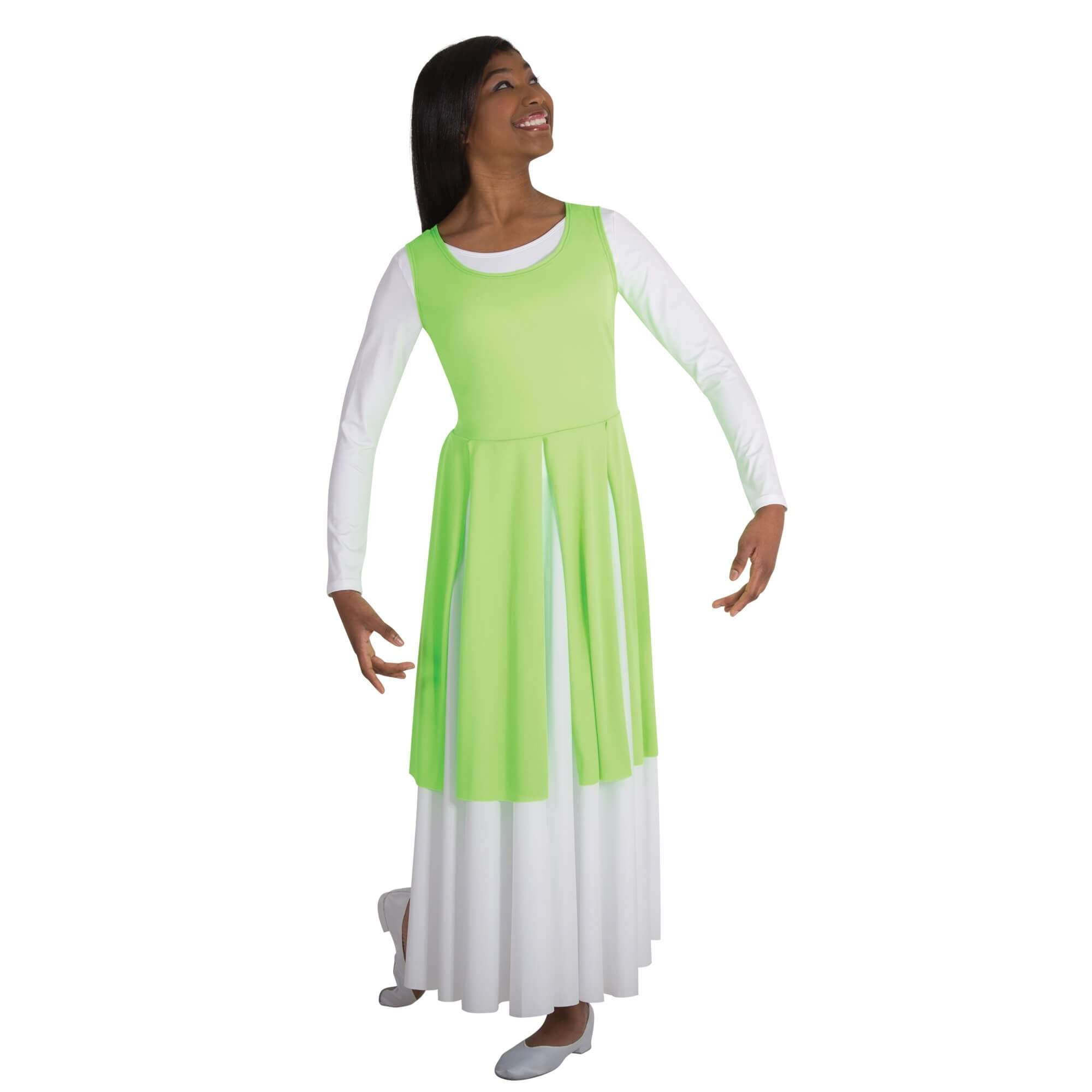 Body Wrappers Fly-Away Panel Tunic
