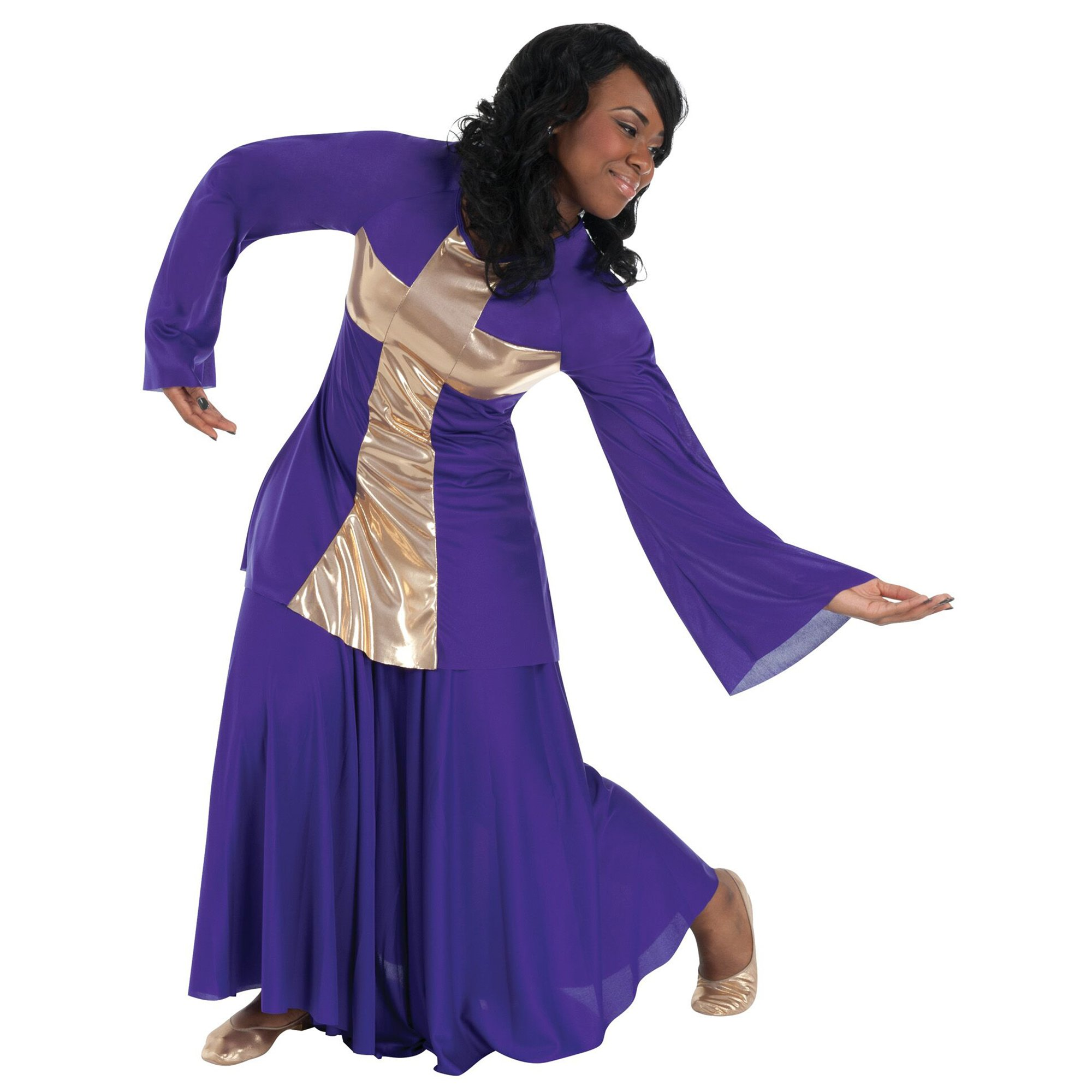 Body Wrappers Praise Dance Praise Cross Pullover Tunic
