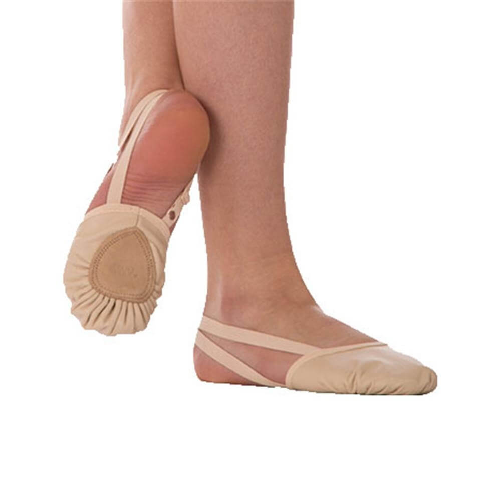 Body Wrappers Child Twyla II Leather Pleated Half Sole Slipper