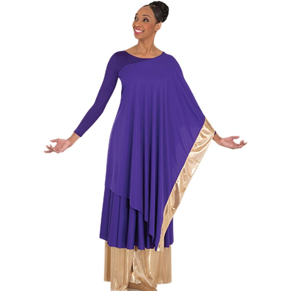 Body Wrappers Convertible Asymmetrical Caftan Pullover