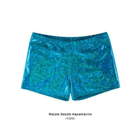 Body Wrappers Child Trendy Hot Shorts Razzle Dazzle Aquamarine