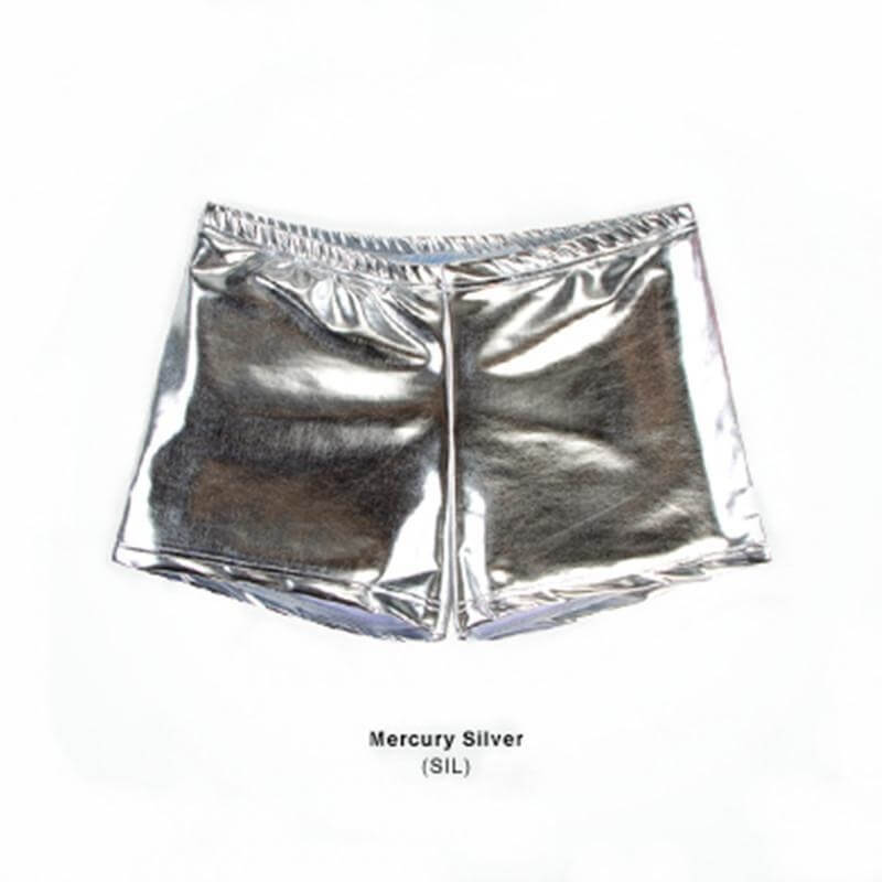Body Wrappers Adult Print Hot Shorts Mercury Silver