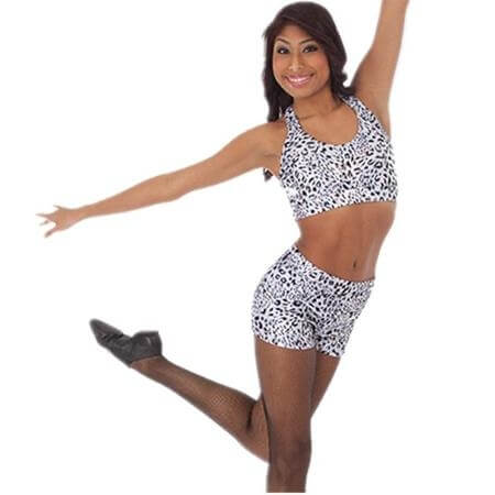 Body Wrappers Sparkle Cheetah Hot Short