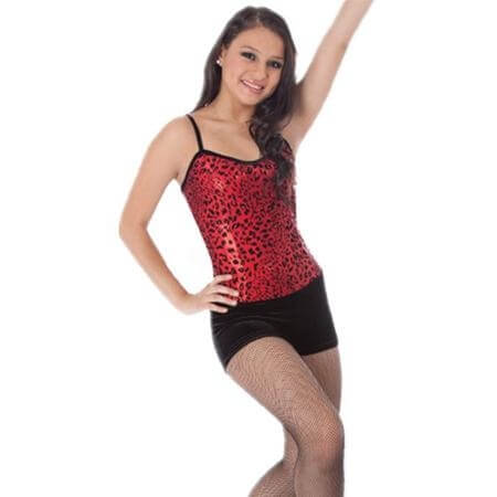 Body Wrappers Sparkle Cheetah Boy-Cut Leotard