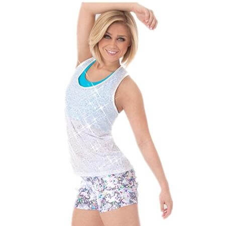 Body Wrappers Racerback Pullover Sequins