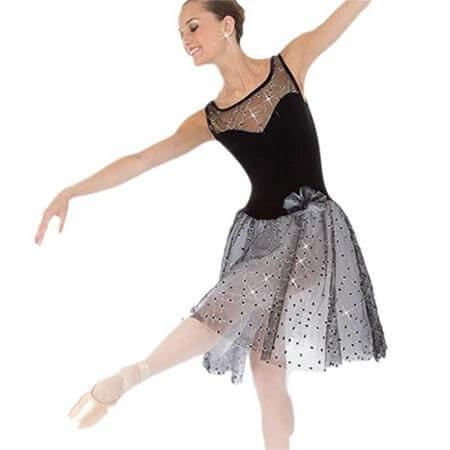 Body Wrappers Plush Below-The-Knee Tank Tutu