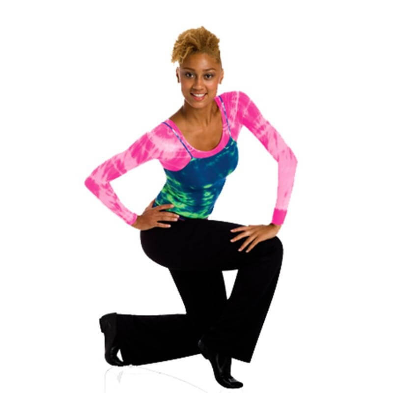 Body Wrappers Tie-Dye Cami Covers Long Sleeve Pullover