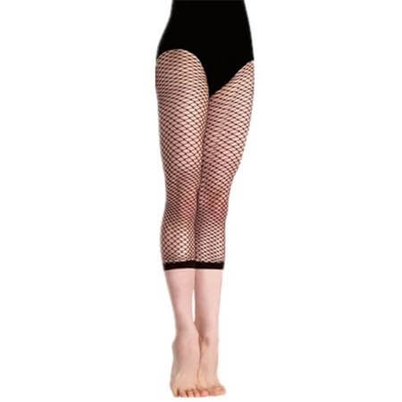 Body Wrappers TotalSTRETCH Crop Fishnet Tights