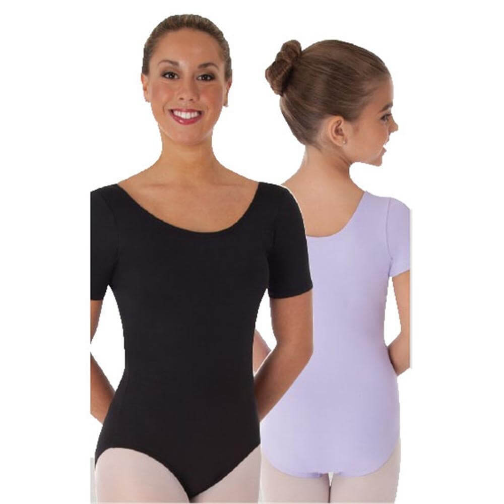 Body Wrappers Color Custom Child Short Sleeve Ballet Cut Leotard