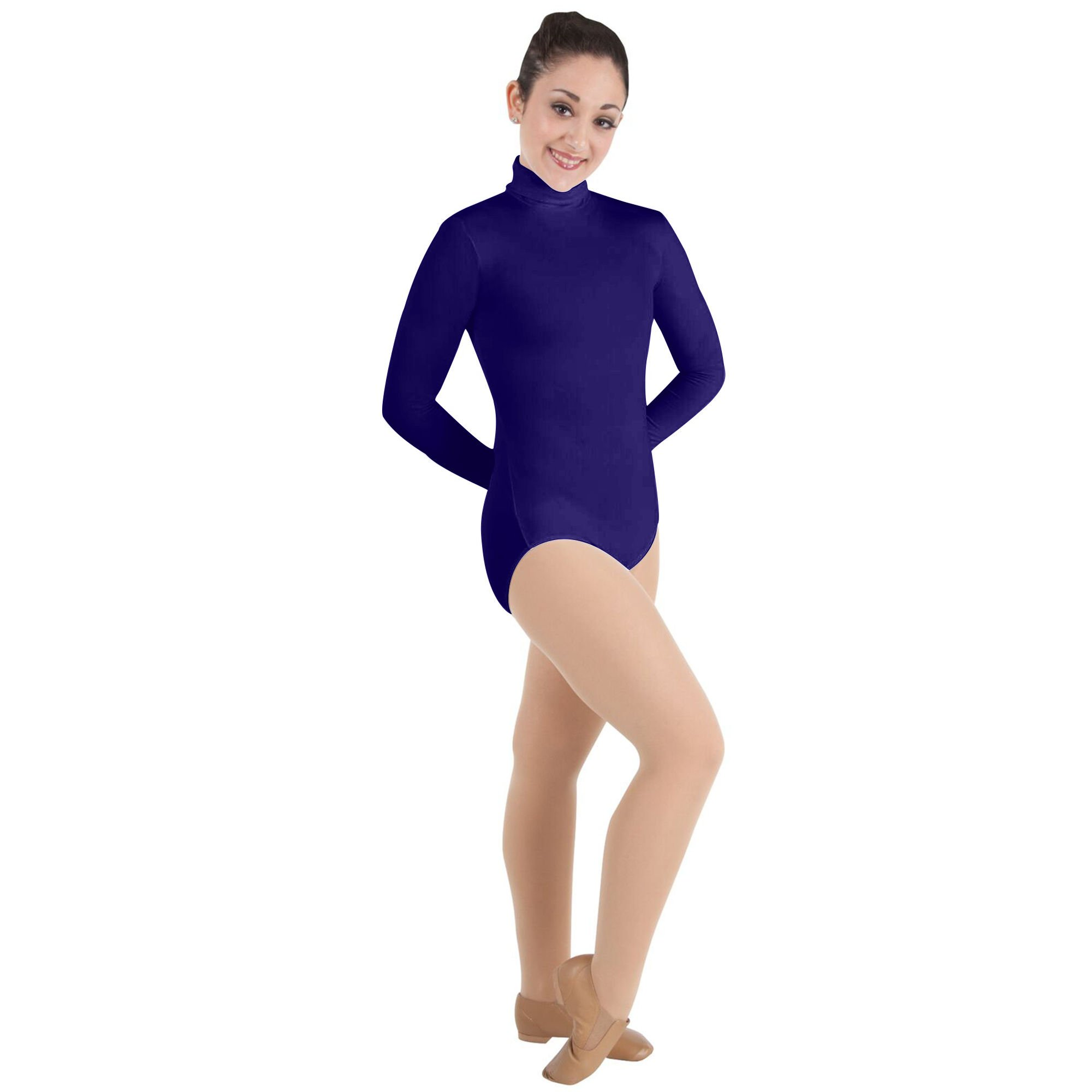 Body Wrappers Adult ProWEAR Zip Back Mock Turtleneck Leotard