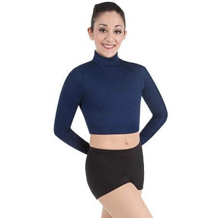 Body Wrappers Adult BWProWear Long Sleeve Turtleneck Midriff Pullover