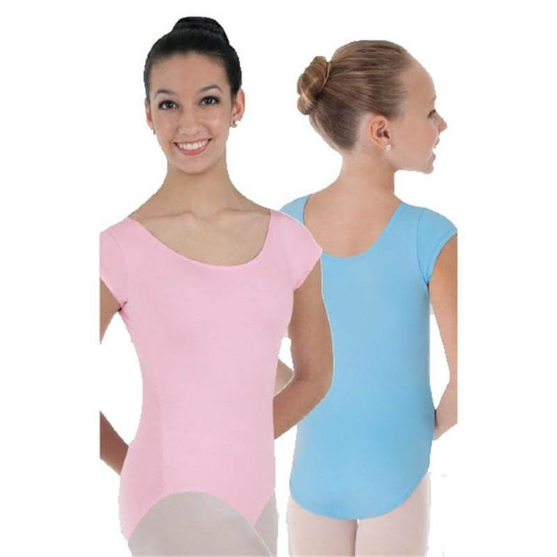 body wrappers adult prowear cap sleeve ballet cut leotard