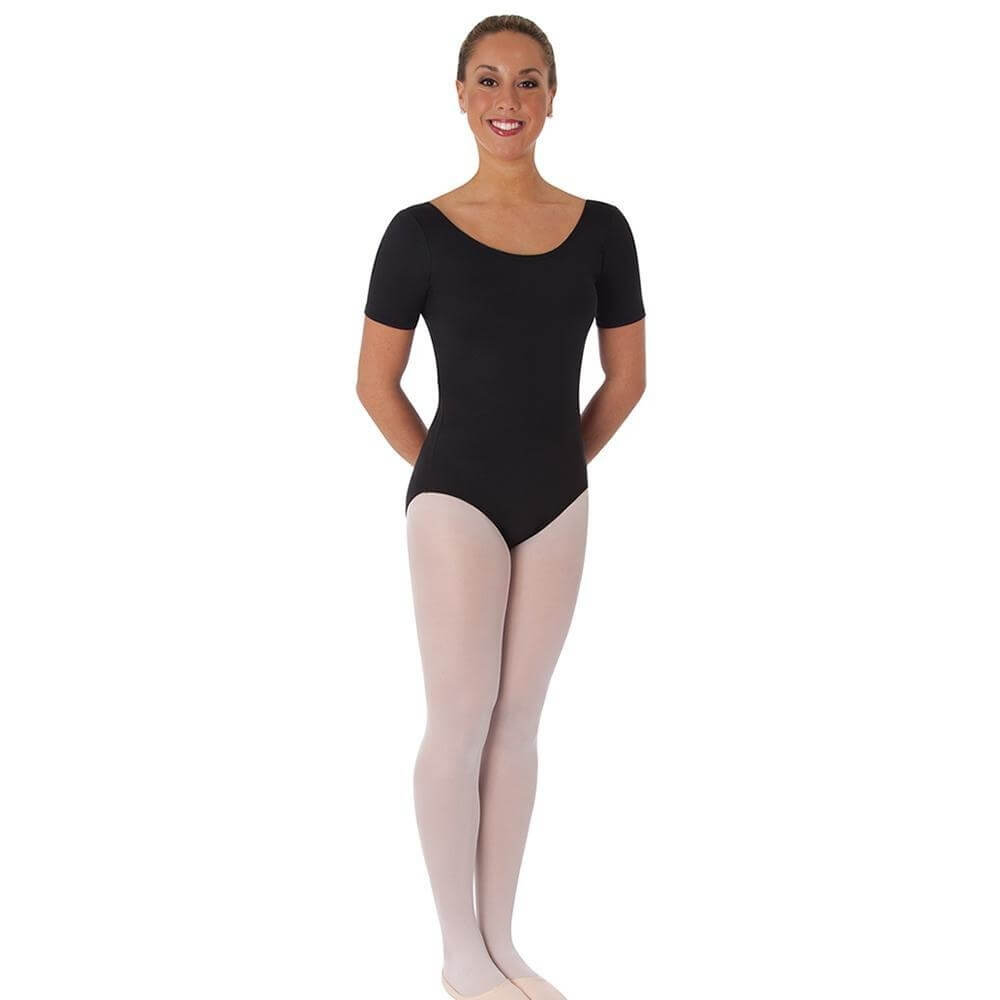 Body Wrappers Adult Short Sleeve Ballet Cut Leotard