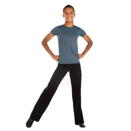 "Body Wrappers Mens Dancewear Short Sleeve ""Snug Fit"" Pullover"