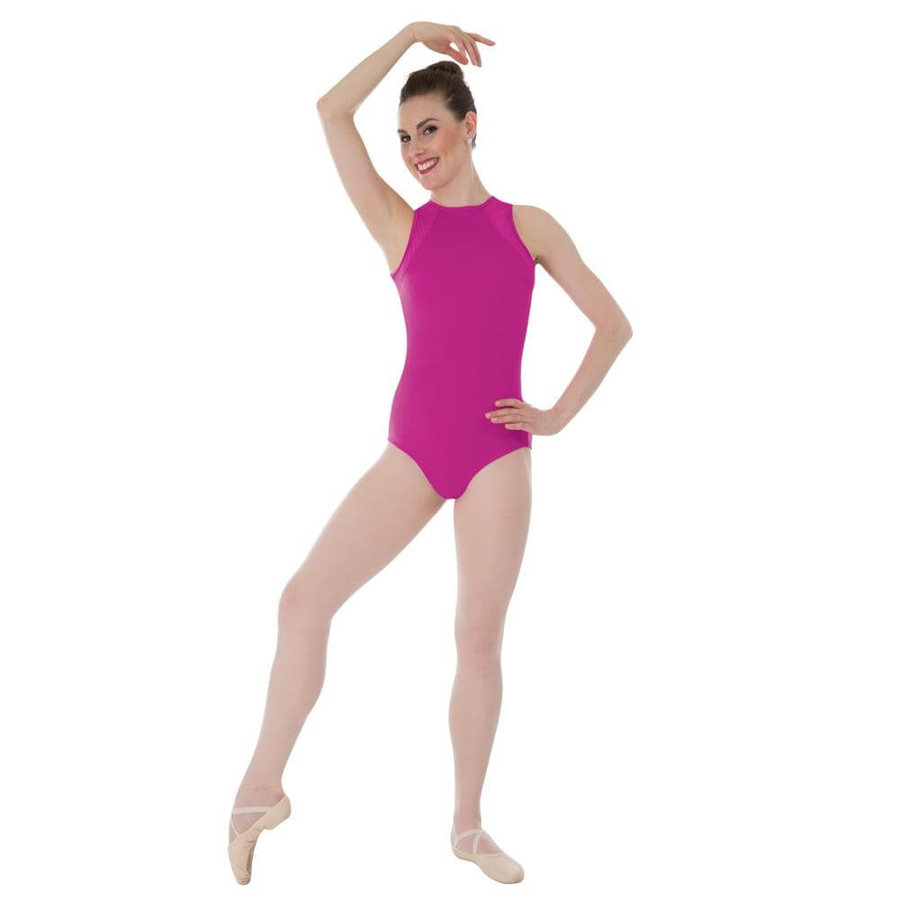 Body Wrappers / Tiler Peck Designs Power Mesh Slit Back Leotard