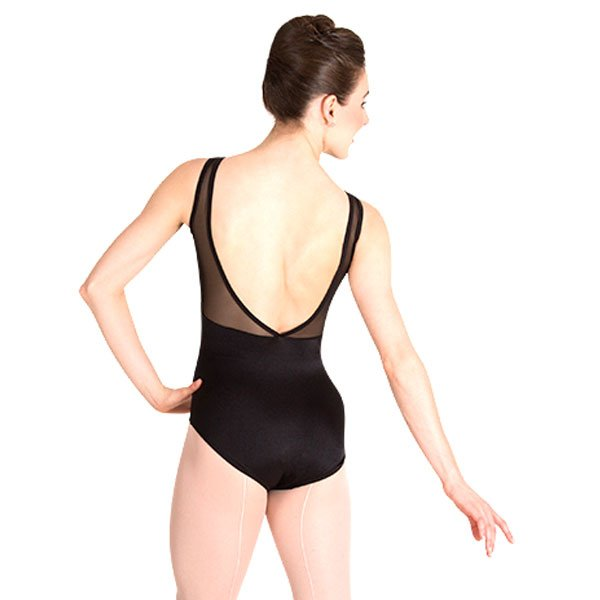 Body Wrappers P1008 Mesh V-Necklines & Inserts Leotard