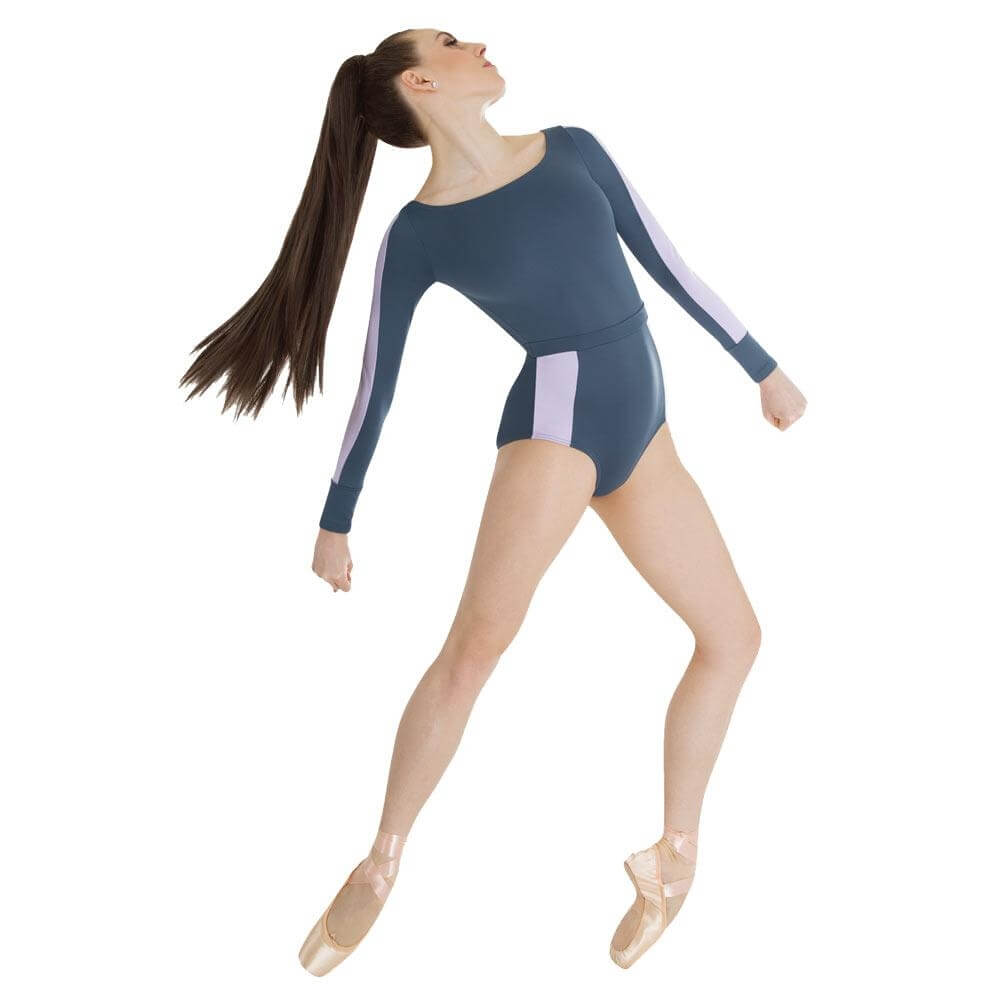 Body Wrappers / Tiler Peck Designs Long Sleeve Open Back Leotard