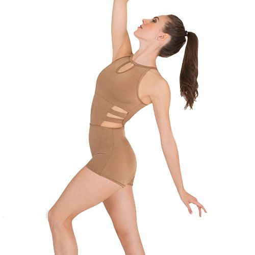 Body Wrappers P1131 Strappy Keyhole Boy-Cut Leotard