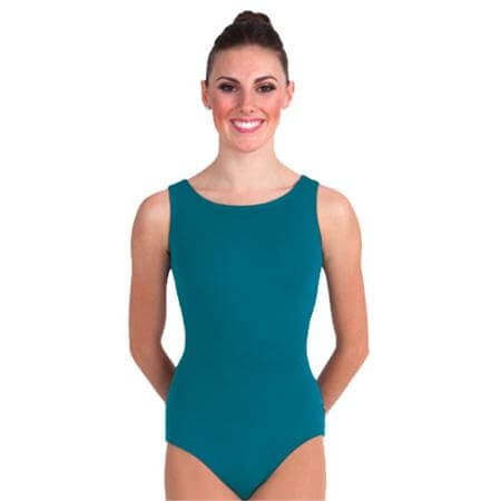 Body Wrappers / Premiere Boatneck Asymmetrical Keyhole Back Leotard