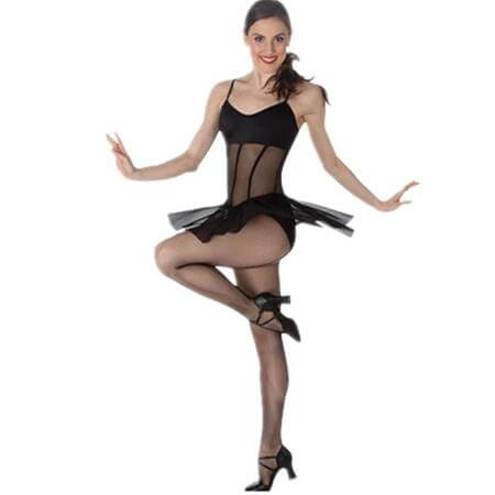 Body Wrappers Sheer Camisole Dance Dress