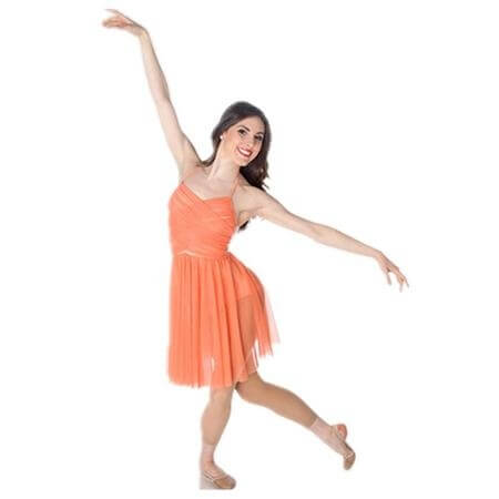 Body Wrappers / Premiere Halter Cross-Over Front Dance Dress
