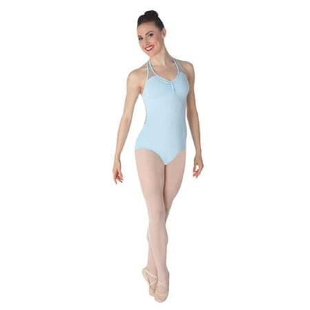 Body Wrappers Lace Back Halter Leotard