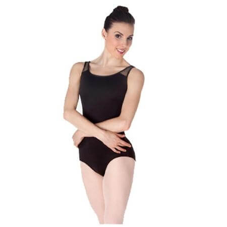 Body Wrappers Lace Open Back Tank Leotard