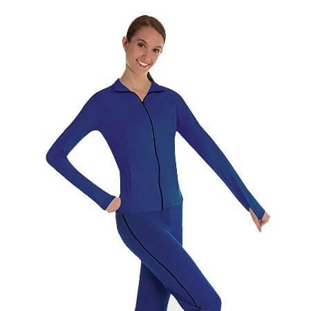 Body Wrappers Color Custom Girls ProWEAR Black Zipper Raglan Sleeve Team Jacket