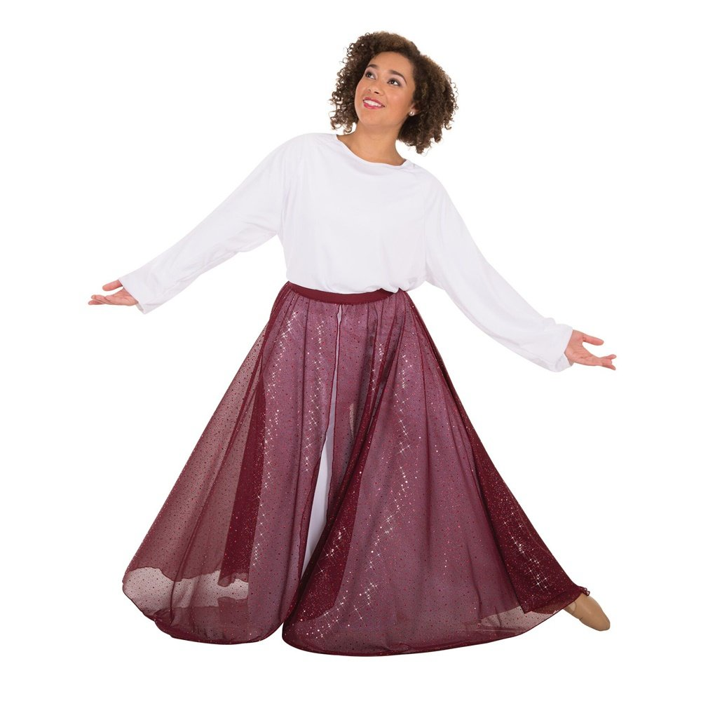 Body Wrappers Worship Dance Twinkle Long Flowing Convertible Skirt
