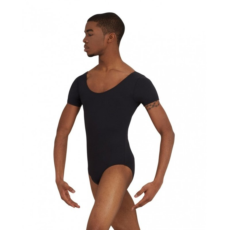 Capezio Short Sleeve Leotard With Round Neckline