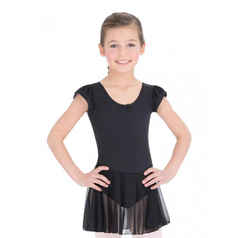 Capezio Girls' Flutter Sleeve Dress Leotard