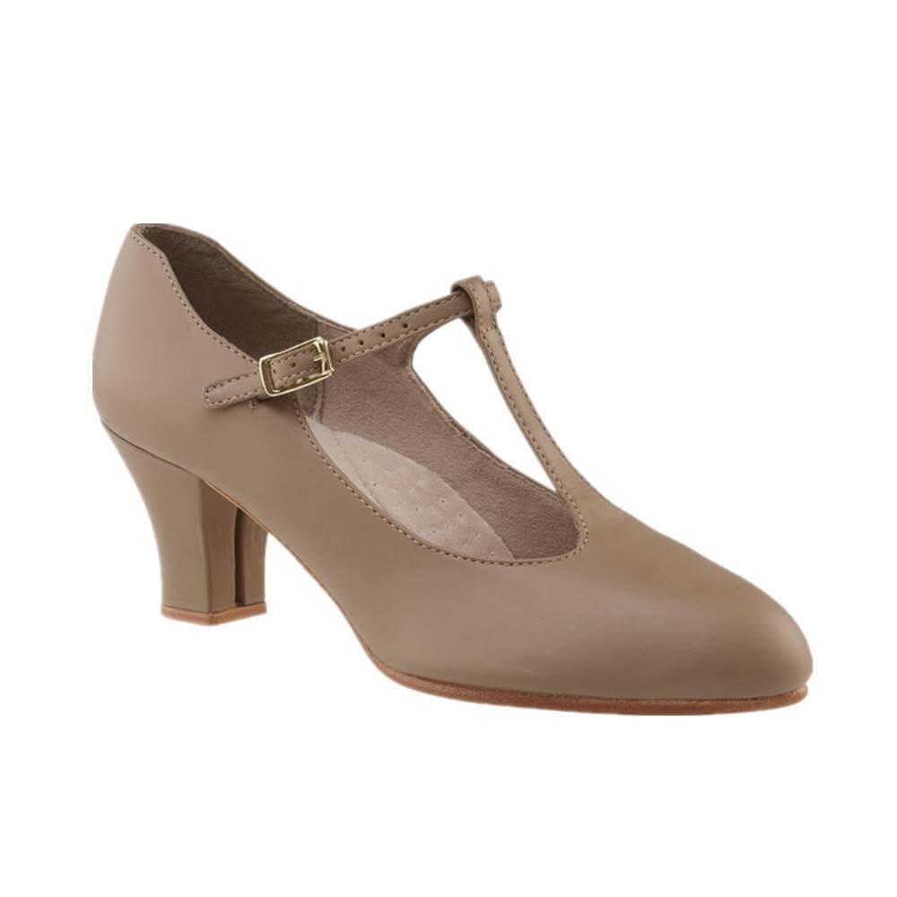 "Capezio Adult 2"" Heel T-Strap Character Shoe"