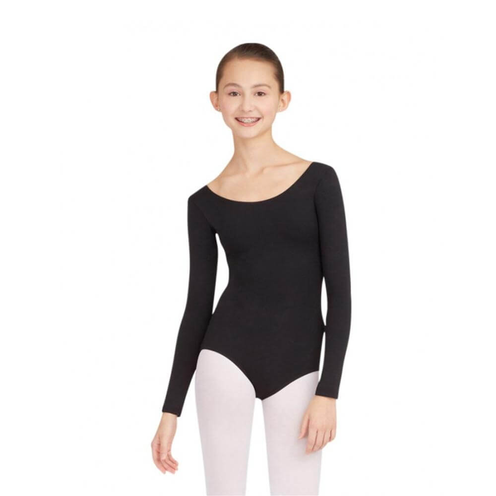 Capezio Adult Plus Size Long Sleeve Leotard - Click Image to Close