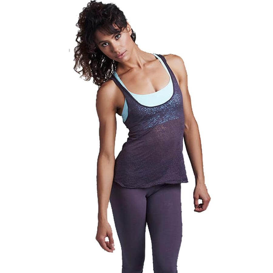 "Chakras by Didi Women's ""Bow Pose"" Burnout Tank"