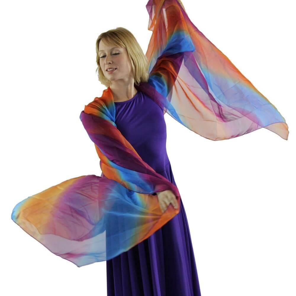 praise dance gauze scarf csj001 28 danzcue. Black Bedroom Furniture Sets. Home Design Ideas