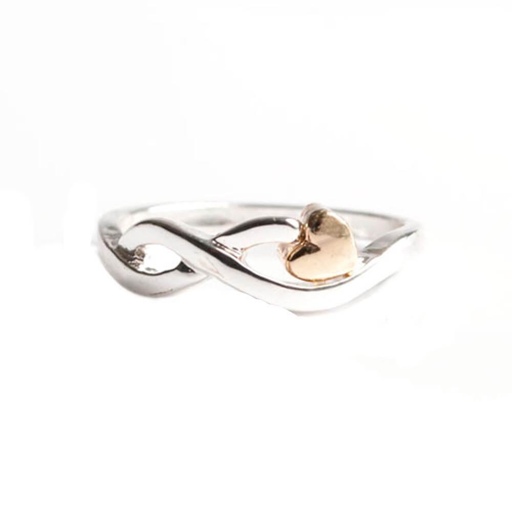 Covet Infinity Heart Ring